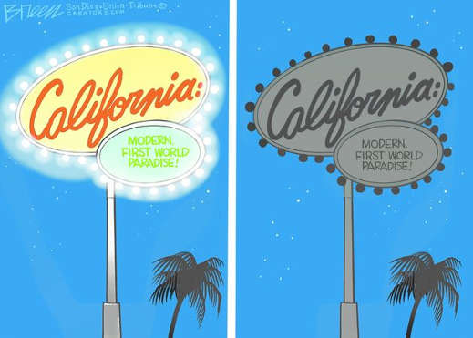 california first world modern paradise lights go out