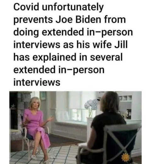 covid unfortunately prevent joe biden in person interview explained by jill in person