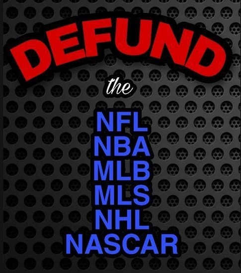 defund nfl nba mlb mls nhl nascar