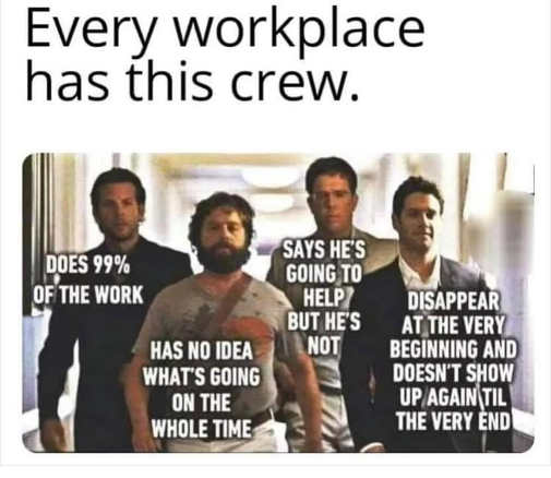 every workplace has this crew hangover does work no idea says will help doesnt disappears
