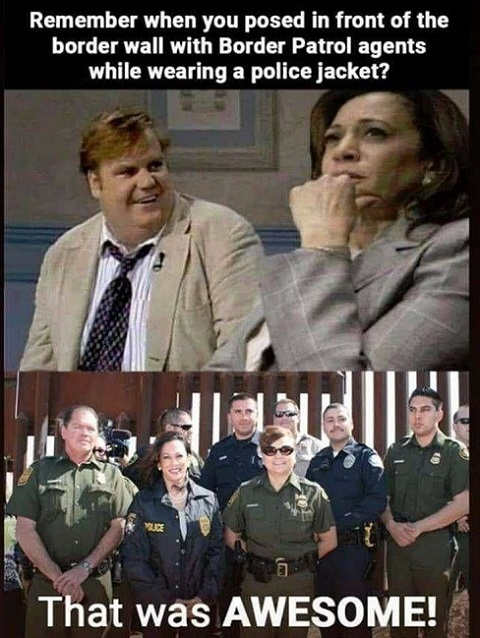 farley remember when posed with ice border patrol cop kamala harris that was awesome