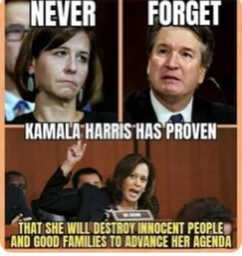 flashback never forget kamala harris proven destroy kavanaugh innocent people