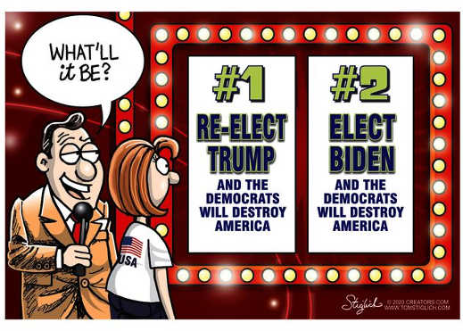 game show 1 elected trump democrats destroy america 2 biden do same thing
