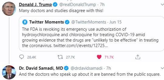 hydroxychloroquine banned by fda trump dr david samadi