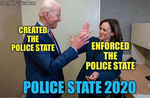 joe biden created the police state kamala harris enforced it 2020