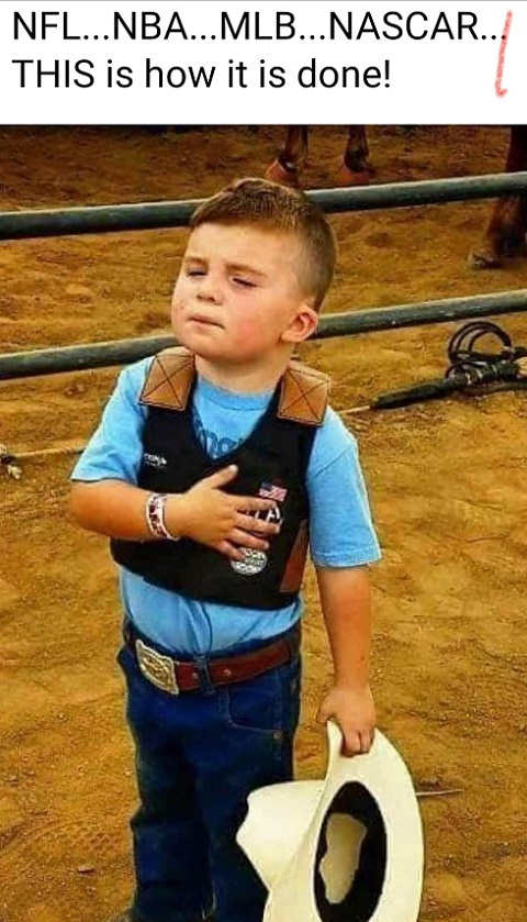 message nfl nba mlb nascar this is how it is done kid national anthem