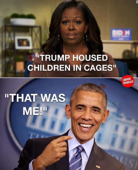 michelle obama trump housed children in cages barack that was me
