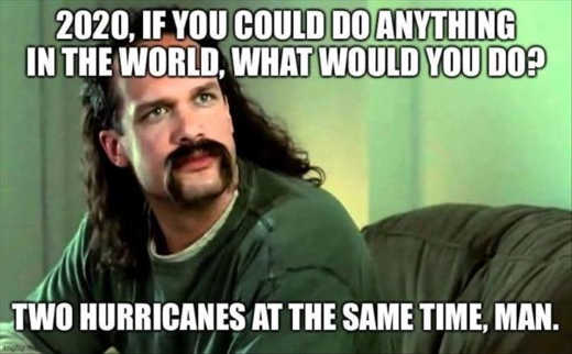 office space 2020 do anything two hurricanes at the same time