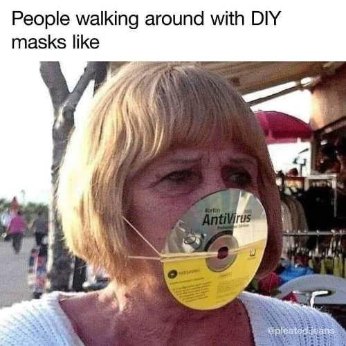 people diy masks anti virus cd