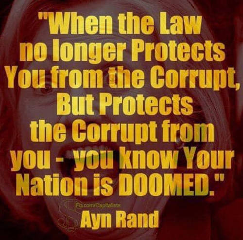 quote ayn rand when law no longer protects from corrupt nation is doomed