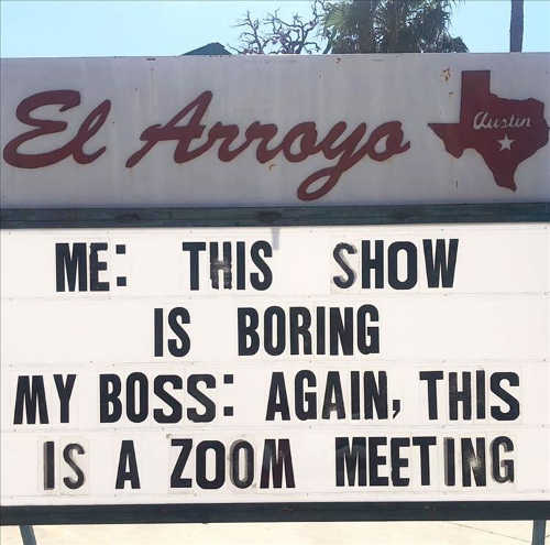 sign this show is boring boss this is zoom meeting