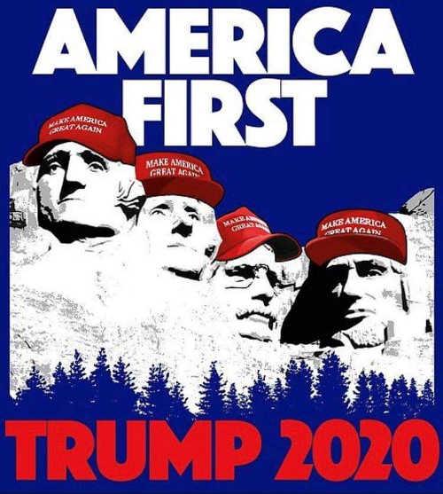 trump 2020 make america great again hats mount rushmore
