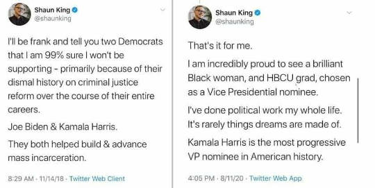 tweets shaun king joe biden kamala harris mass incareration