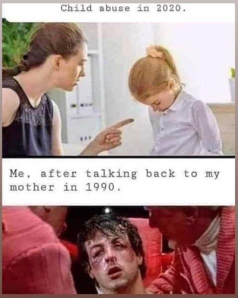 child abuse in 2020 vs 1990 finger vs rockey