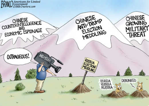 china mountains espionage election meddling military mainstream media russia debunked