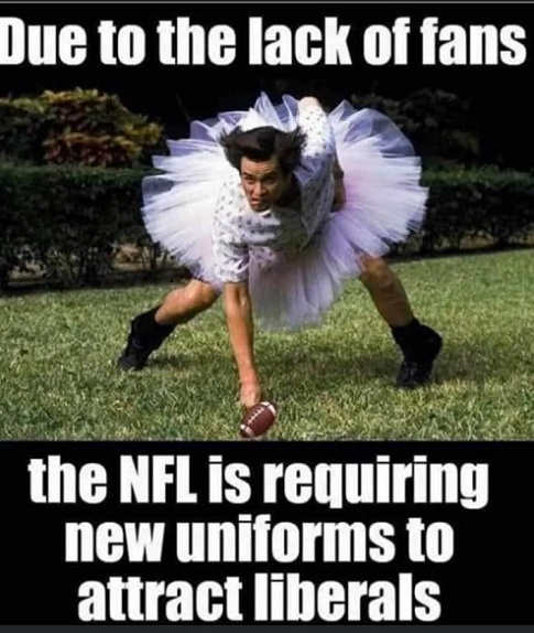 due to lack of fans nfl requiring new uniforms liberals jim carrey ace ventura