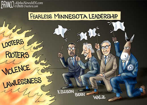 fearless minnesota leadership looters rioters violence surrender white flag
