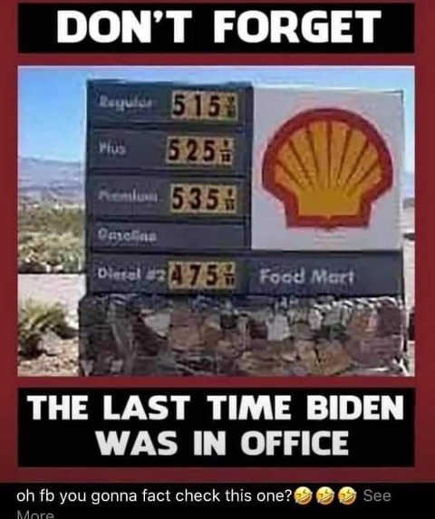 flashback last time biden in office 5 dollar gas prices