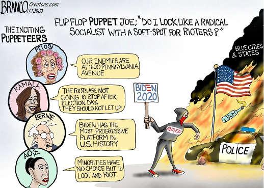 inciting puppeteers pelosi kamala harris bernie aoc biden 2020 look like socialist rioters