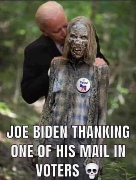 joe biden thanking one of mail in voters walking dead
