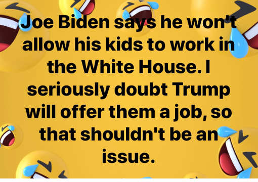 joe biden wont allow kids to work in white house doubt trump will offer them job