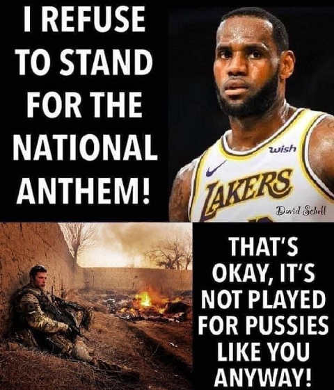 lebron james refuse to stand national anthem military not for pussies