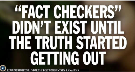 message fact checkers didnt exist until truth started to get out