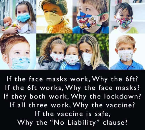 message of day face mask work 6 feet lockdown vaccine no liability