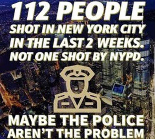message people shot in new york last two weeks maybe police not problem