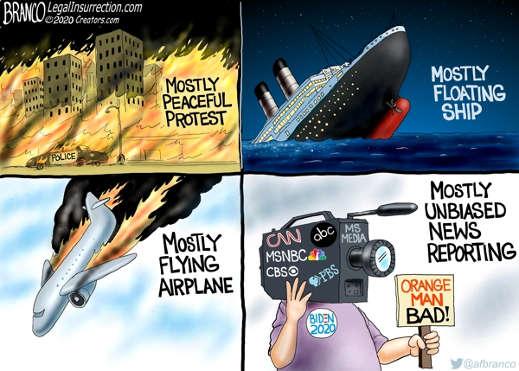 mostly peaceful protest floating shipt unbiased news orange man bad cnn msnbc abc cbs mainstream media