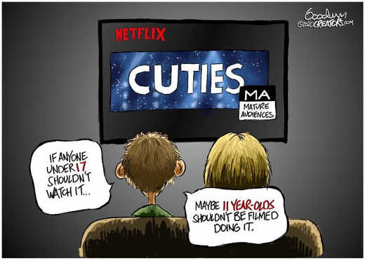 netflix cuties if anyone under 17 shouldnt watch it maybe 11 years olds shouldnt be filmed doing it