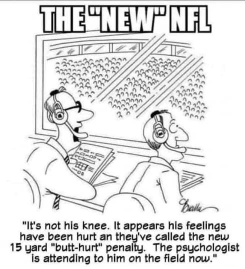 new nfl not his knee appears feelings hurt psychologist attending to