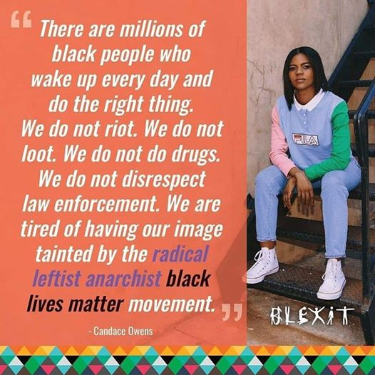 quote candace owens millions of black people do right thing every day tired tainted by blm anarchists