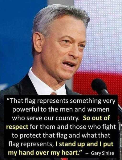 quote gary sinese flag powerful men women serve show respect