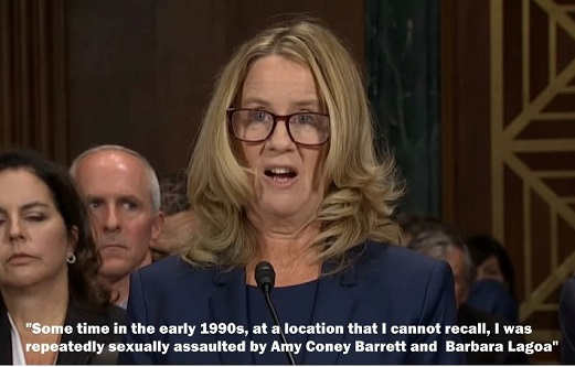 some time in 1990s sexually assaulted amy coney barrett barbara lago christine ford