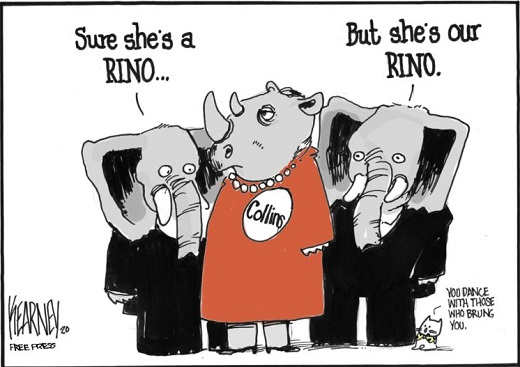 susan collins sure shes a rino but shes our republican in name only