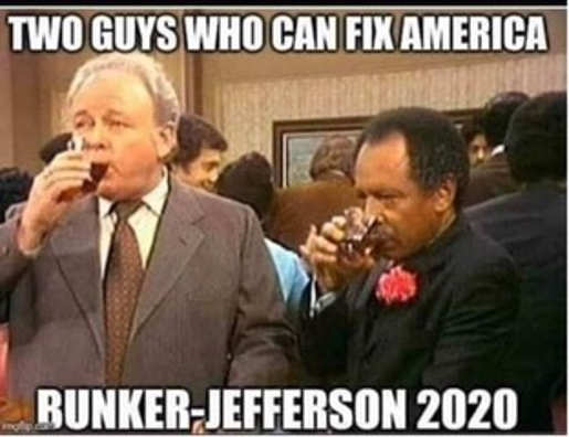 two guys who can fix america george jefferson archie bunker