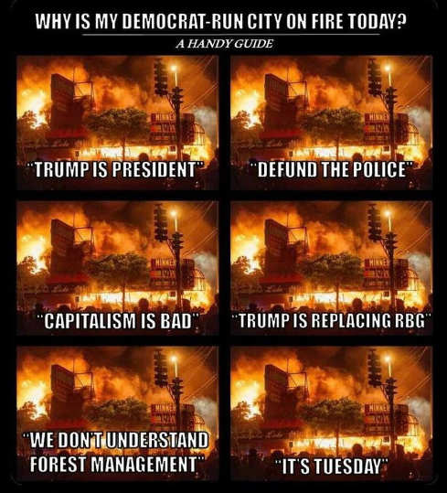 why is my democrat run city on fire trump president defund police capitalism bad
