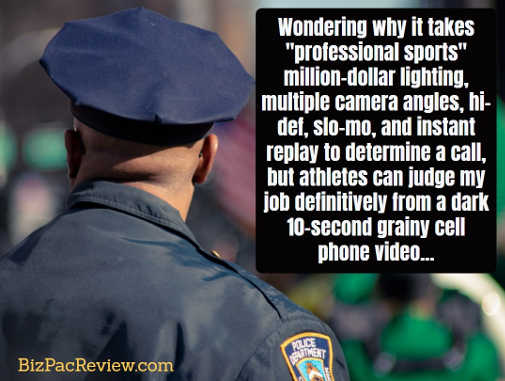 wondering why it takes pro sports multiple cameras slo mo instant reply to judget but 10 second camera for police