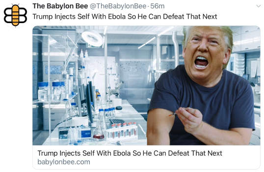 babylon bee trump injects himeself with ebola