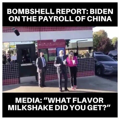bombshell biden china report media what flavor milkshake