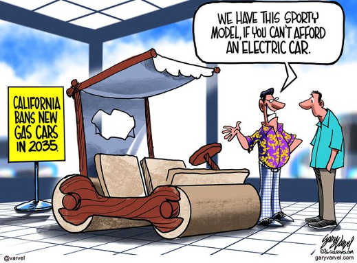 california bans gas cars have sporty flintstones car altenative to electric
