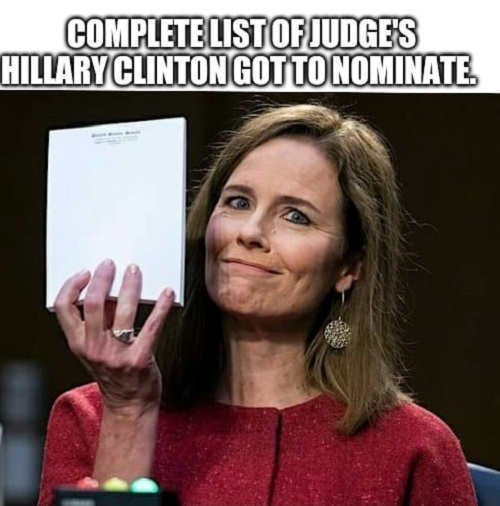complete list of judges hillary clinton got to nominate blank notepad