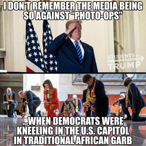 dont remember media being against photo ops democrats kneeling us capitol