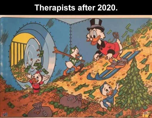ducks scrooge therapists after 2020 skiing in cash