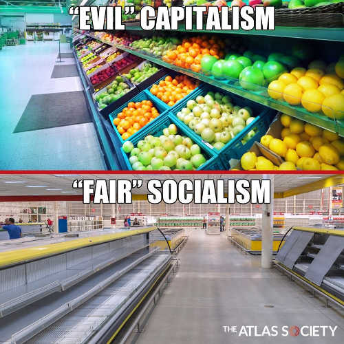 evil capitalism full fruit isle fair socialism no food