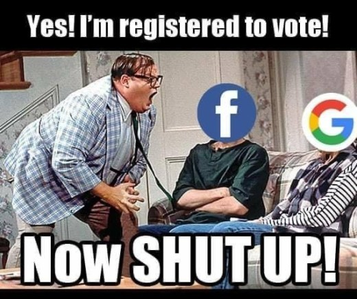 facebook google yes im registered to vote now shut up chris farley