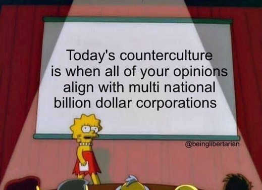 lisa simpson todays counterculture when you align with billion dollar corporations