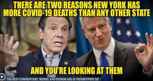 message 2 reasons new york highest covid death rate bill deblasio andrew cuomo