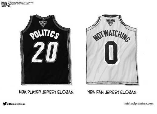 nba jersey politics not watching fan slogan